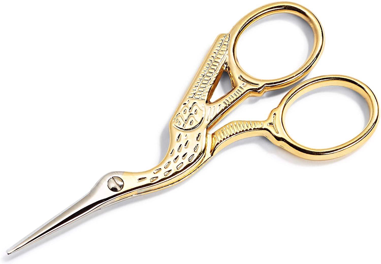 4.5 Stork Scissors - Gold