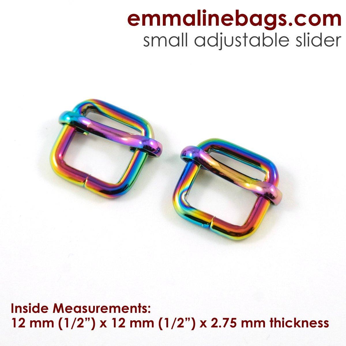 Adjustable Slider 1/2 Iridescent Rainbow