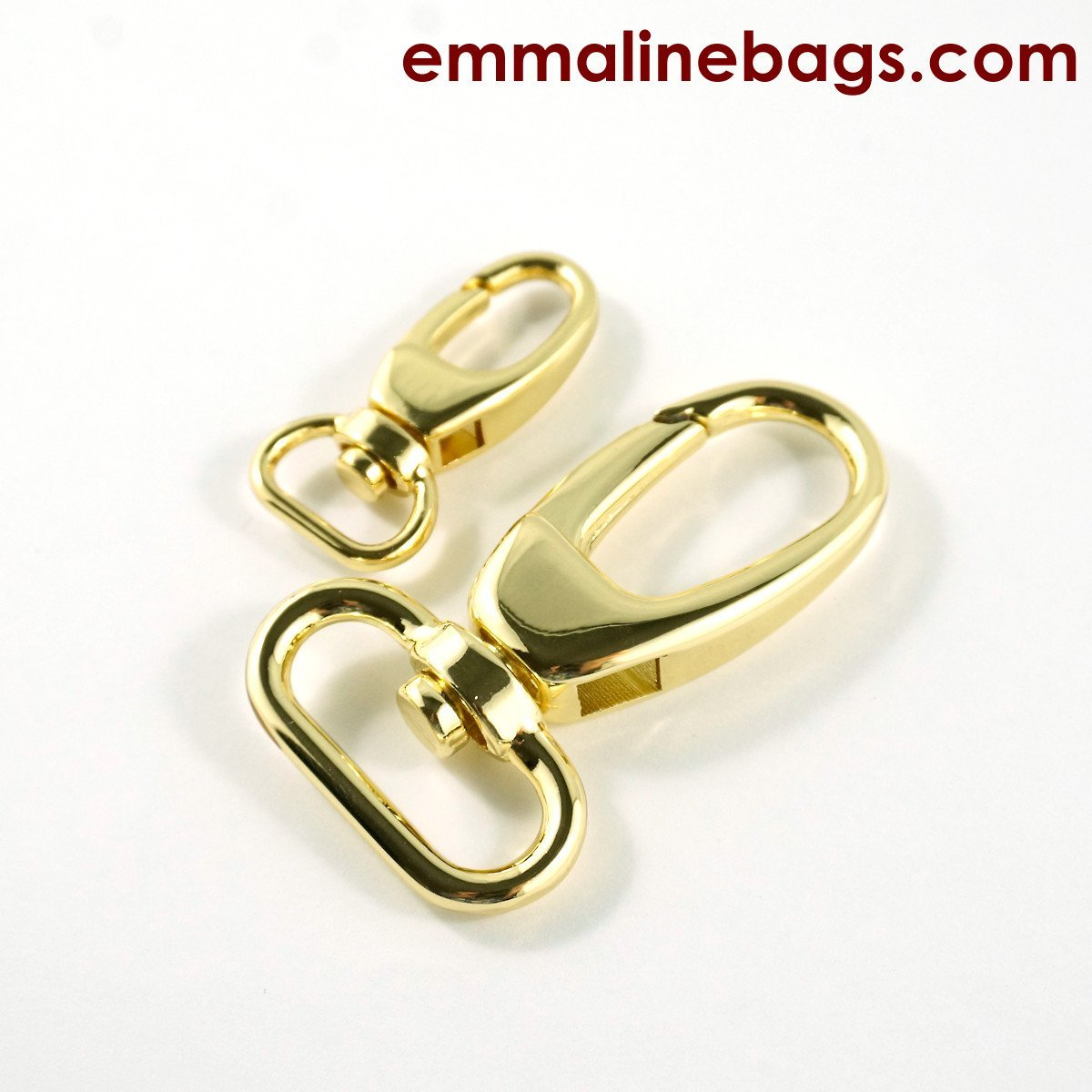Swivel Hook .5 Gold 2 pack