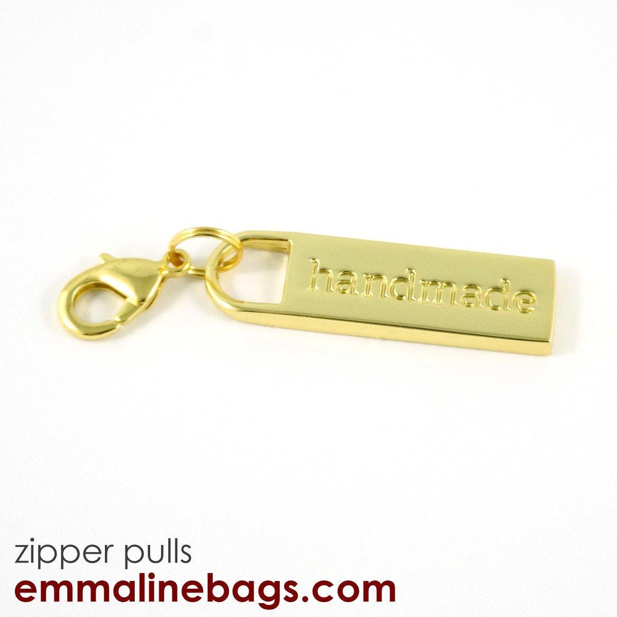 Handmade Zipper Pull - Gold