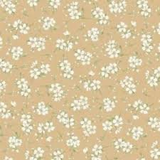 Gentle Breeze - Tan With White Flowers MAS8517-T