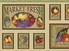 Fruit Basket - Panel with Fruit & Fruit Lingo (2/3 yd Panel) 1649-22341-AF