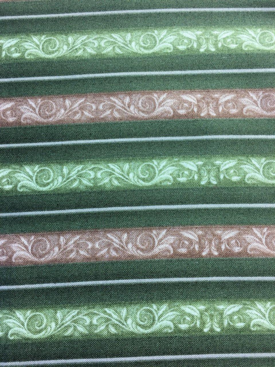 Fruit Basket - Stripes Tan & Green 1649-22345-F