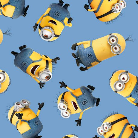 1 in a Minion - Tossed Minions Blue Yardage 1649-23990-B