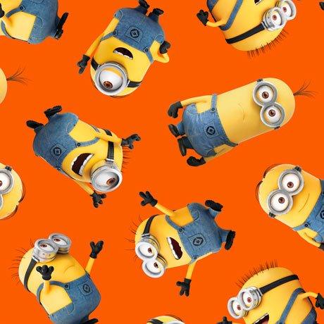 1 in a Minion - Tossed Minions Orange Yardage 1649-23990-O