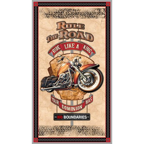 Rule the Road (2/3 yd Panel) 1649-26687-E