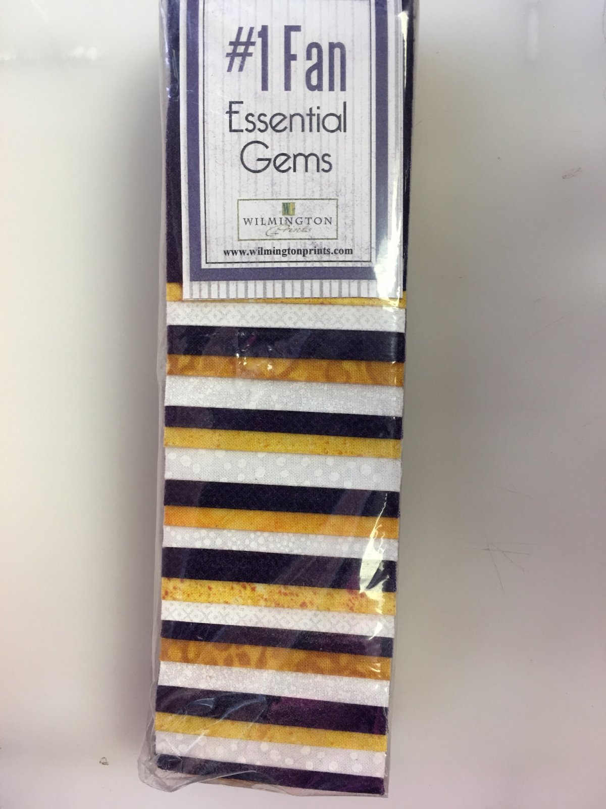 2-1/2in Strips Number 1 Fan Purple/Gold/White 6 bundles per pack Q819-10-819