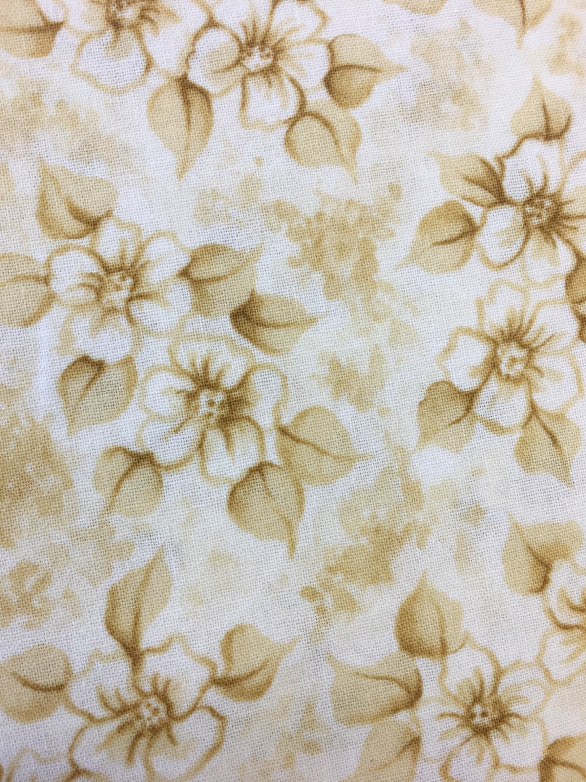 Tea Party-Cream with Yellow Flowers Y0545-11 Light Khaki