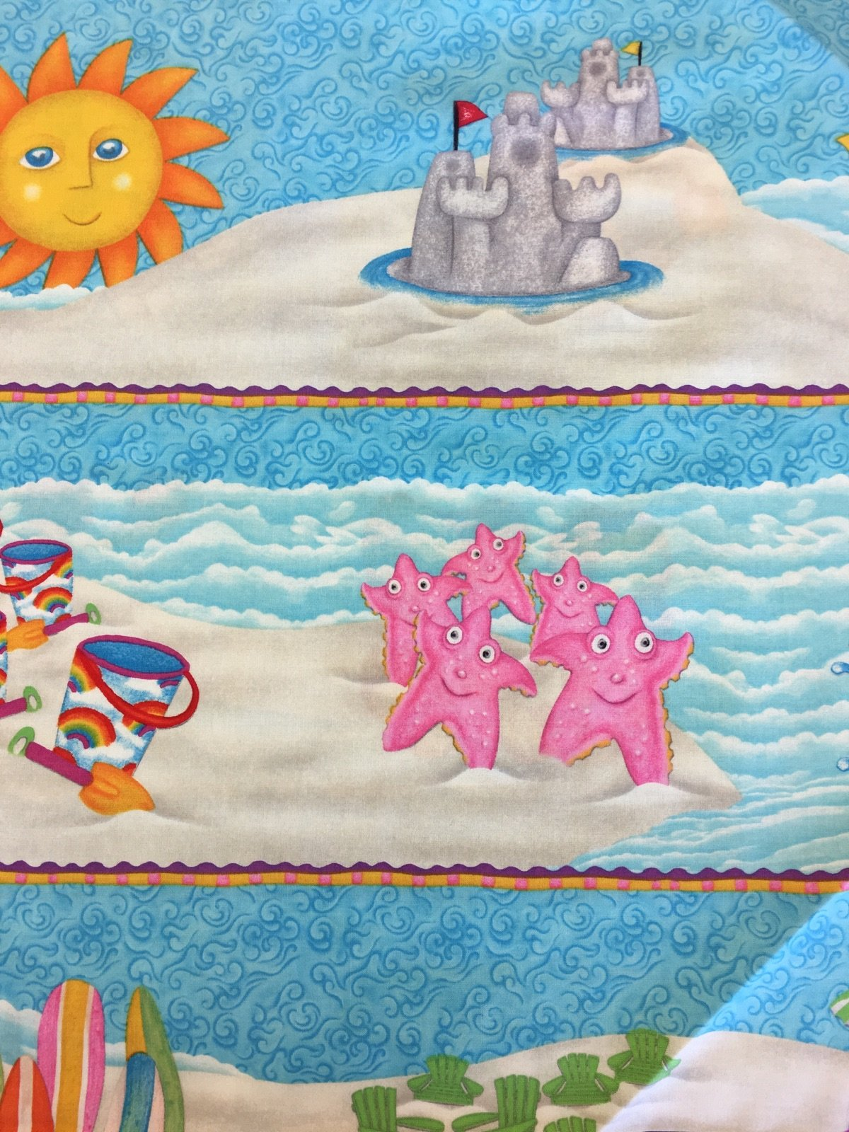 1, 2, 3, Down By The Sea - Panel - Sea Animals (2/3 yd Panel) 5347-11