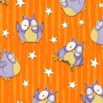 Chills and Thrills - Orange with Owls 6968G-33
