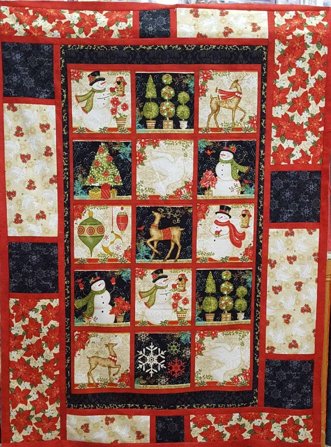 Christmas Panel Quilt Squares Mesage Board Kit