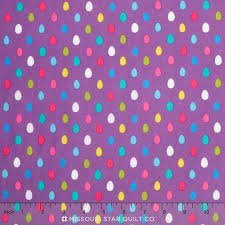 Egg Dot - Purple with Multi Colored Eggs CX6974-Purp-D
