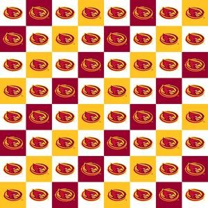 Sold by the Yard Iowa State University Cotton Fabric-Iowa State Cyclones Mascot Heather 100/% Cotton Quilting Fabric-SYKEL ISU1164