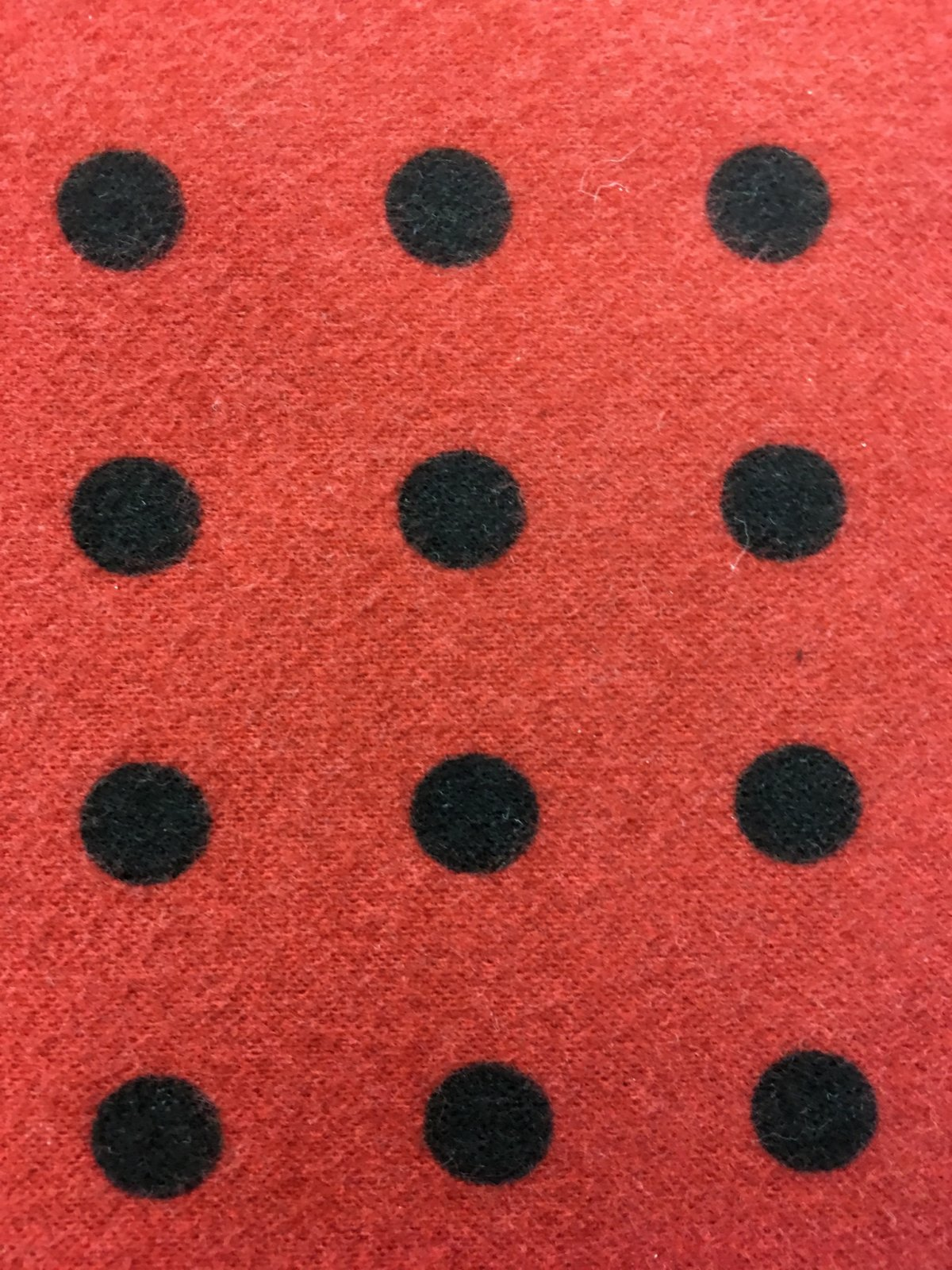 Woolies Flannel Dots - Large Dots Red F18145-R2