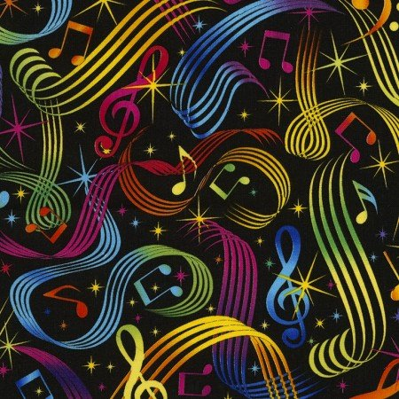 Bright Music Notes (Rainbow of Colors) C5397