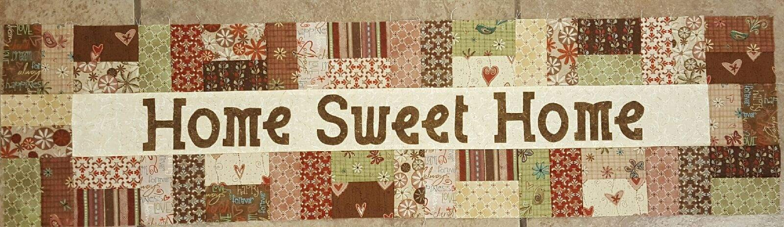 Row By Row Patterns - Home Sweet Home - Pieced Squares Brown