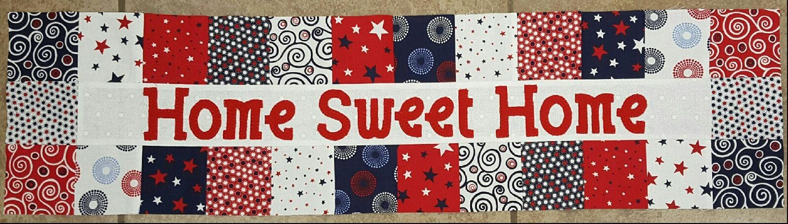 Row By Row Patterns - Home Sweet Home - Squares Red/White/Blue