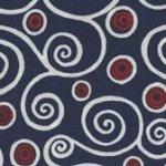 Sweet Liberty - Dark Blue with Red Circles & White Swirls BTR6915 NAVY