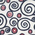 Sweet Liberty - White with Red Circles & Blue Swirls BTR6915 WHITE