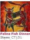 BALI PANEL CT 151 FELINE FISH DINNER 18X32