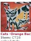 BALI PANEL CT 28 2 CATS ORANGE 18X20