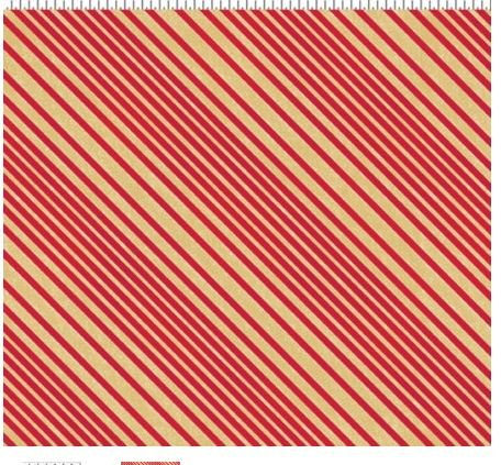 CLOTH WORKS Y 1487-4M ALL WRAPED UP RED STRIPE