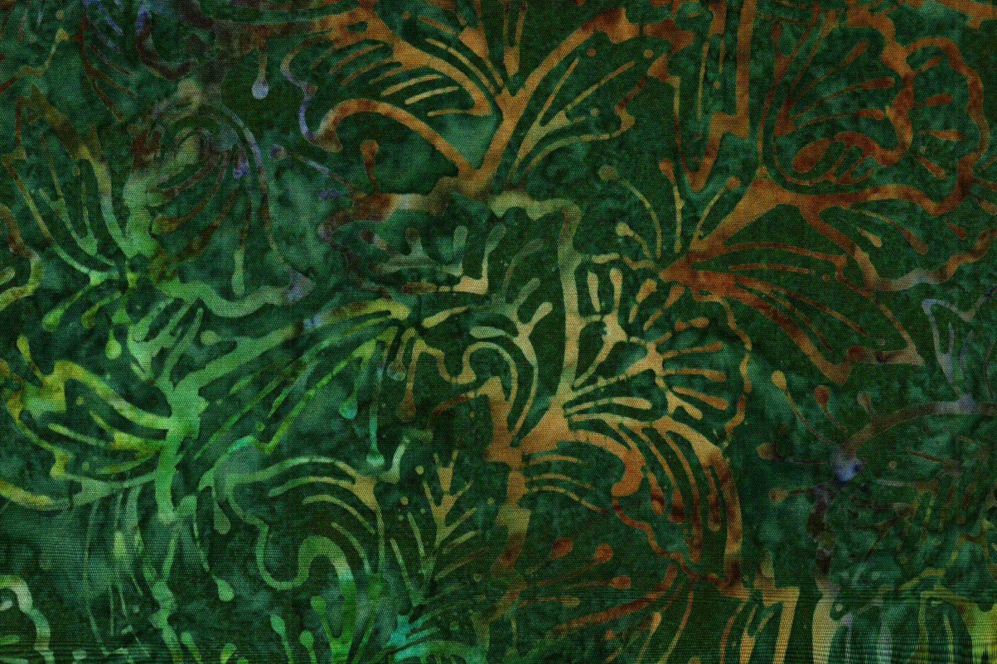 FABRIC QUILT BATIK BUTTERFLY FLOWERS TEAL 116-2201