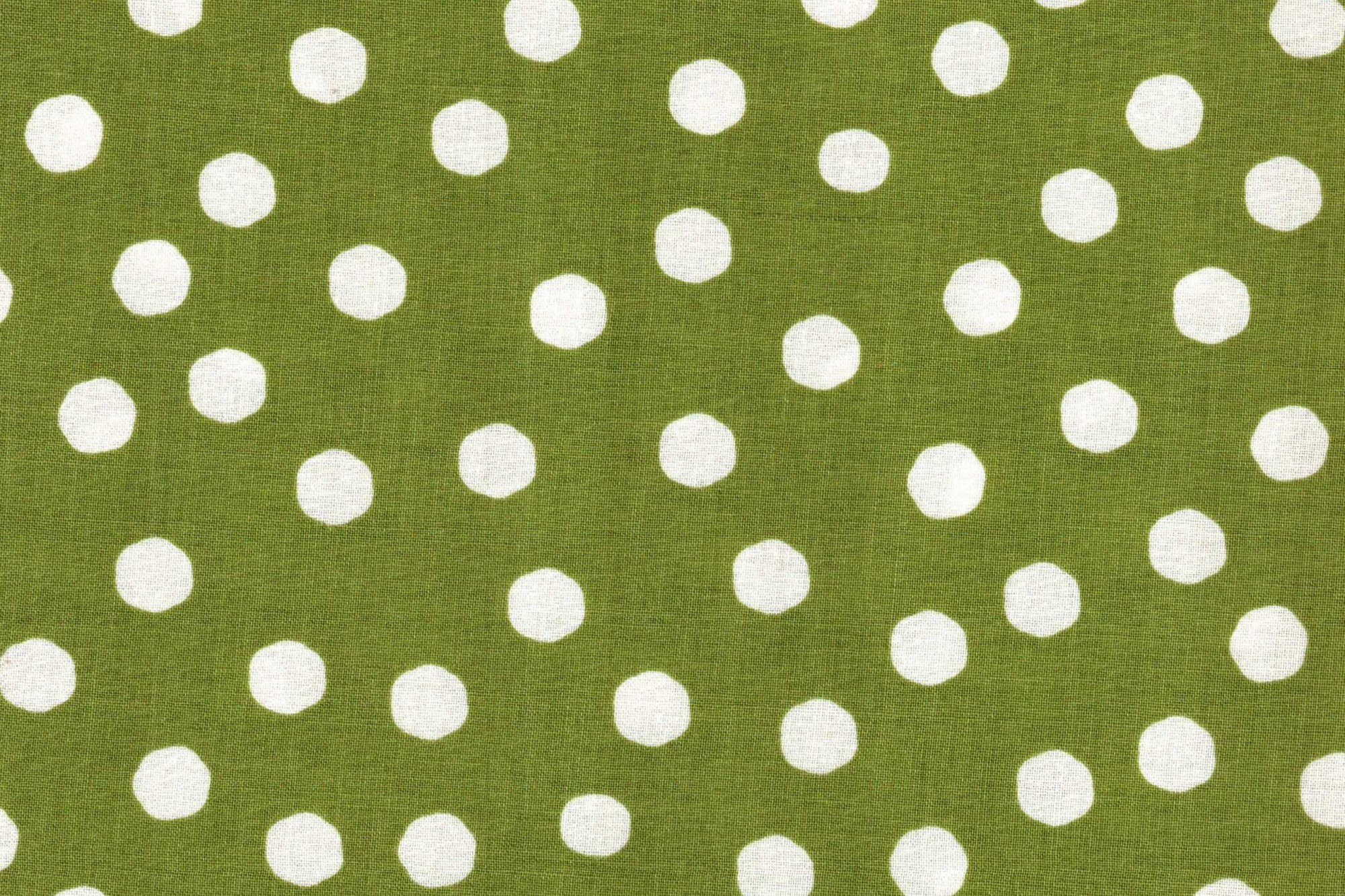 LORALIE DESIGNS 691-834-B JUMBO GREEN DOTS