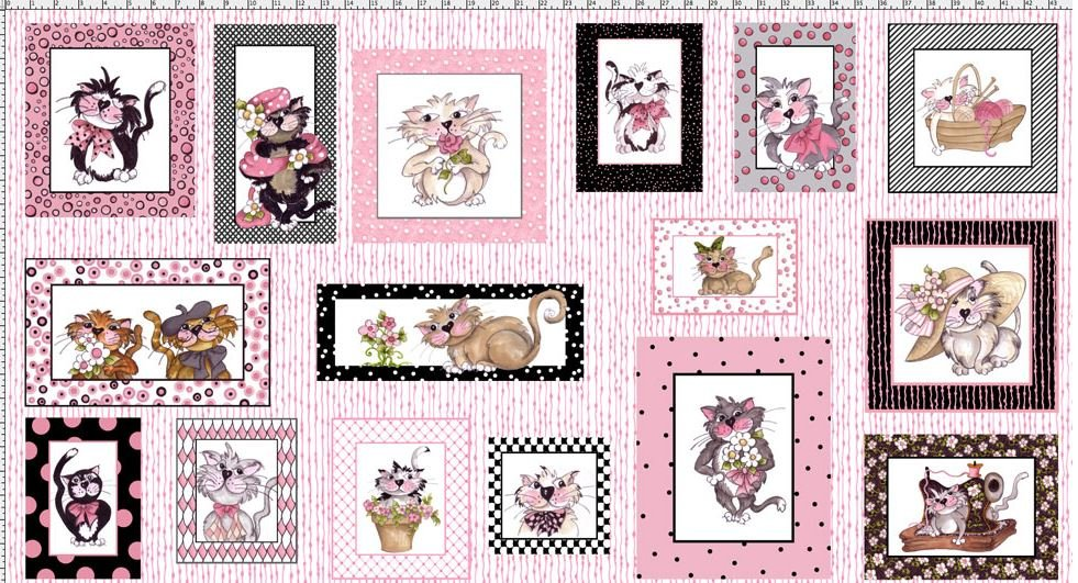 LORALIE DESIGNS 691-948-B FANCY CATS PANEL