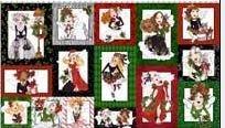 LORALIE DESIGNS 691-954-B FAIRY MERRY CHRISTMAS PANEL