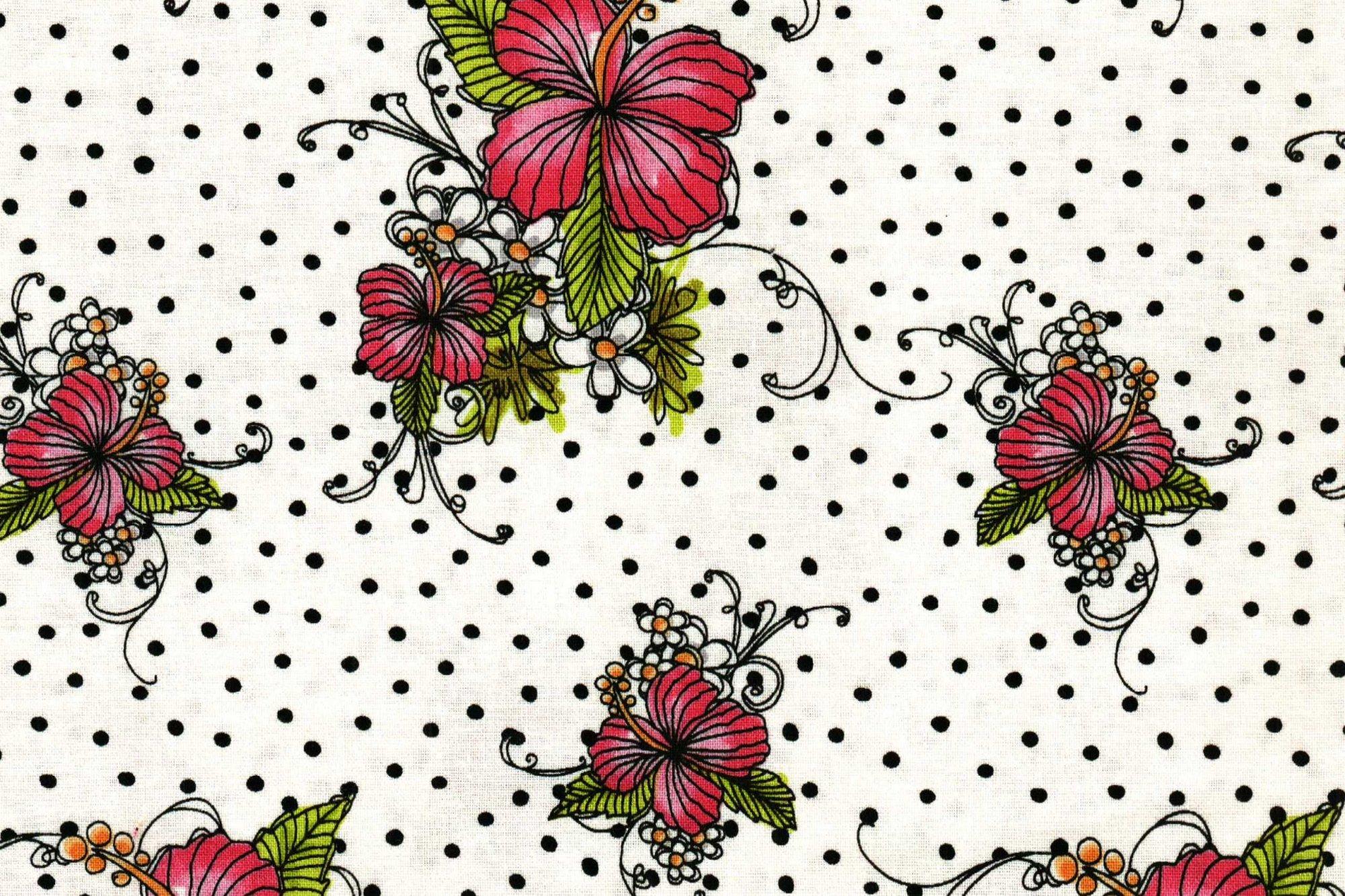 LORALIE DESIGNS LADY LUAU WHITE DOTS 691-855-B