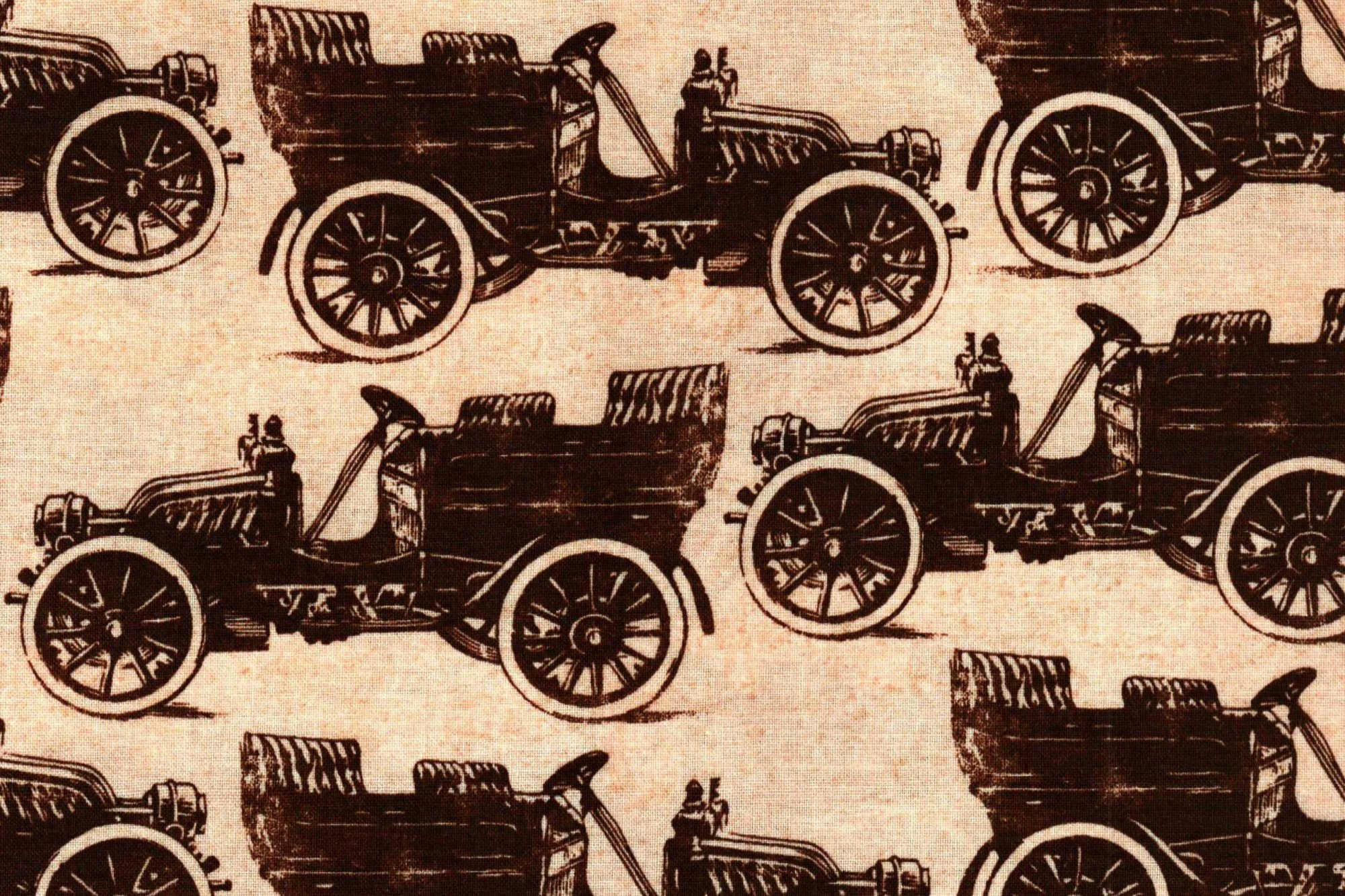 TEXTILE COLLECTIONS C-2711 CREAM OLD CARS
