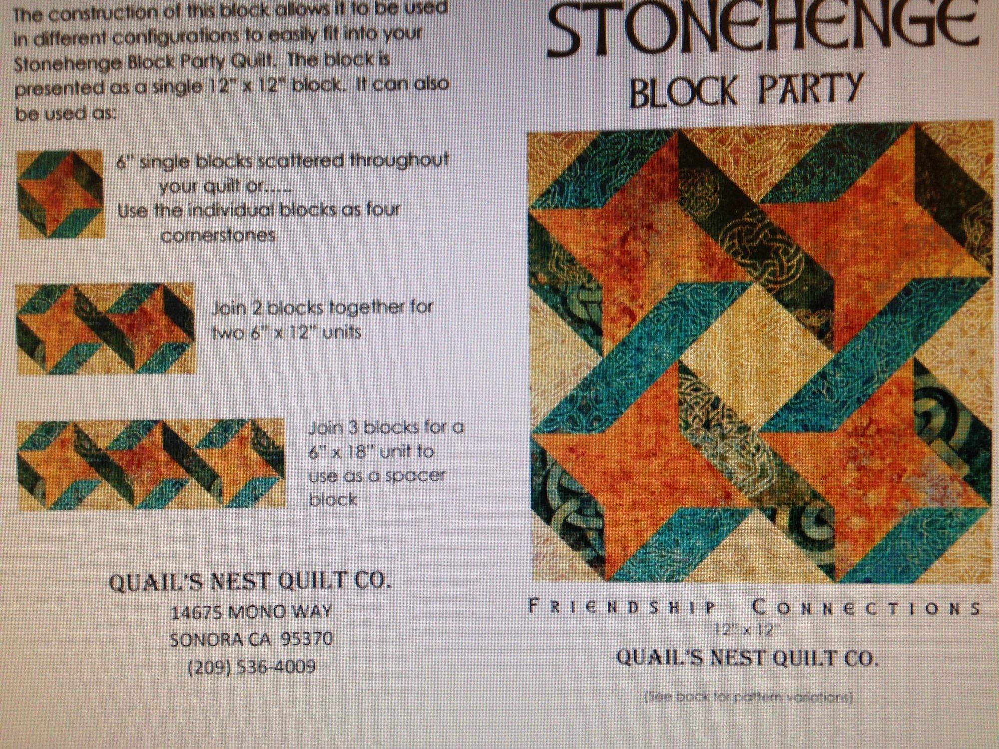 Stonehenge Solstice Block Kit