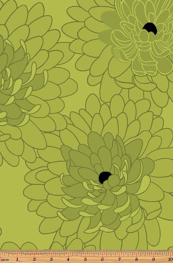 Fresh Bloom Fabric - Bloom Green