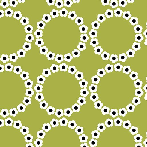 Fresh Bloom Fabric - Daisy Chain Green