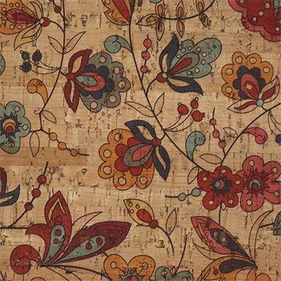 Amazon Flower Cork Fabric