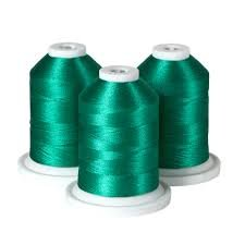 100% Polyester Color Fast, High Shine Embroidery Thread - Aqua Mint