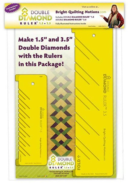 Double Diamond Ruler - Bright Quilting Notions