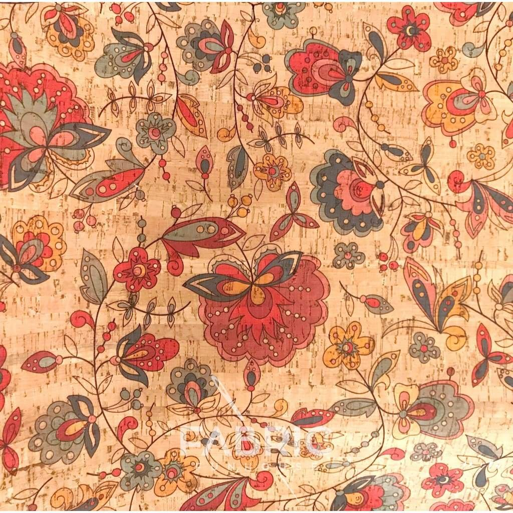 Amazon Flower Cork Fabric Cut 18 x 24