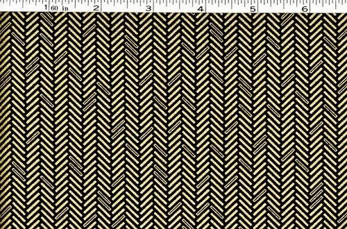 Jubilee Fabric - Herringbone Black