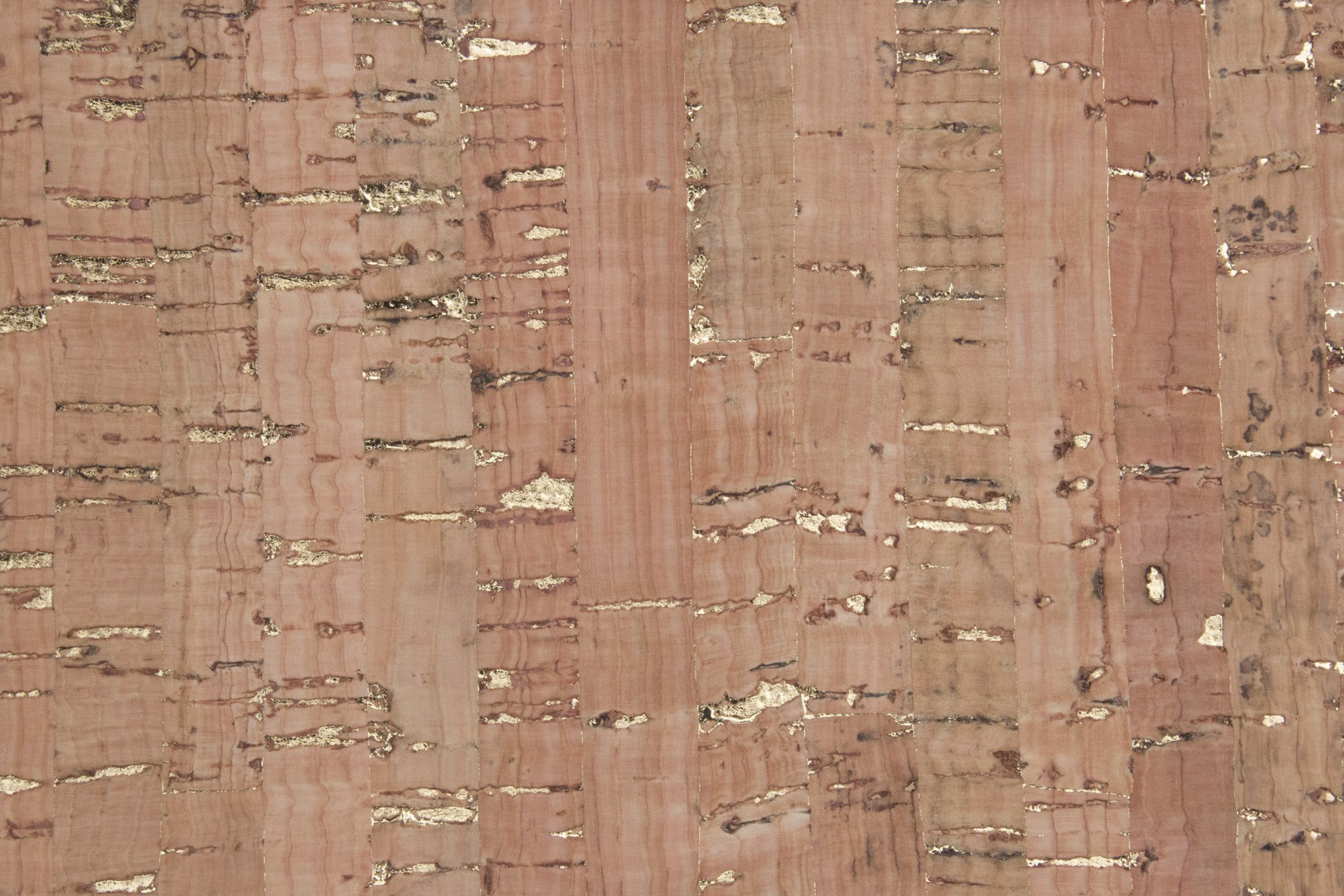 Natural w/Gold Cork Fabric - 1/2 yard