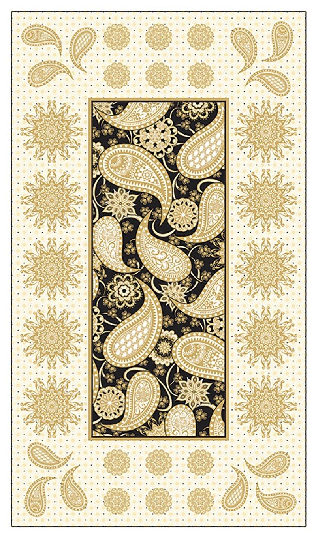 Jubilee Embroidery Panel, Black