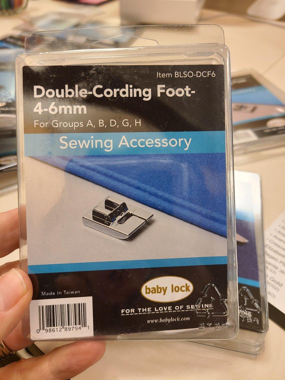 Baby Lock Double-Cording Foot 4-6 mm