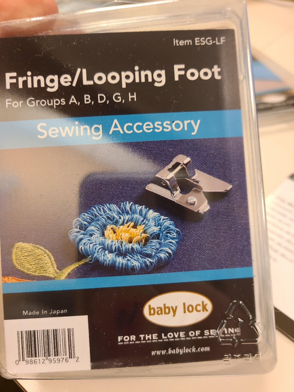 Baby Lock Fringe/Looping Foot