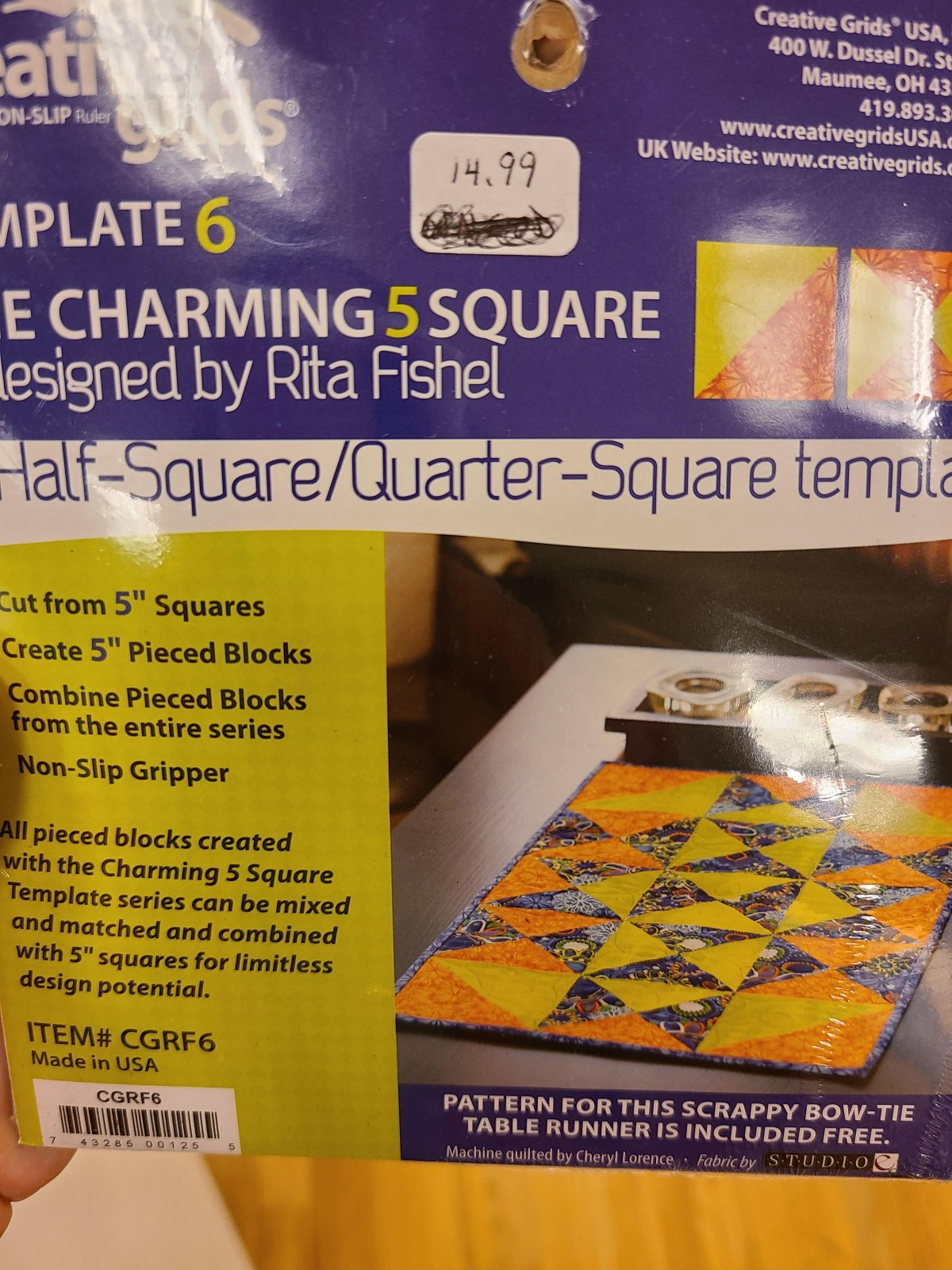 CHARMING 5 SQUARE RULER AND PATTERN