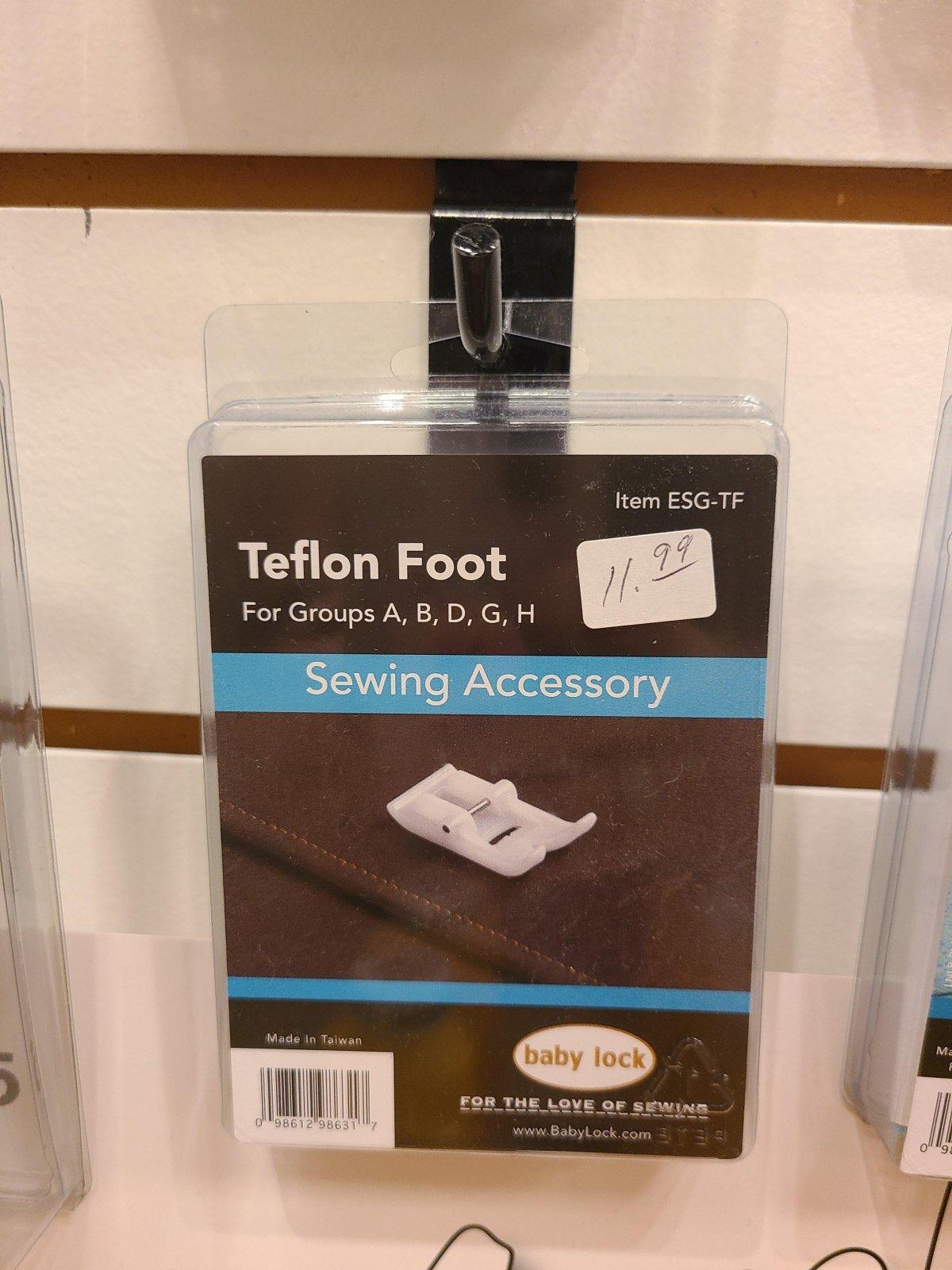 TEFLON FOOT FOR BABY LOCK A,B,D,G,H,