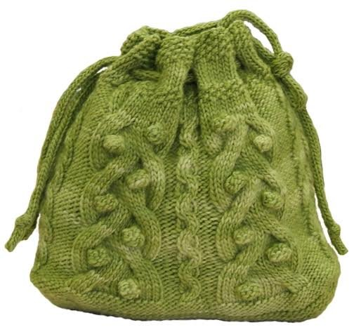 Cable Crazy Drawstring Bag By Sharon