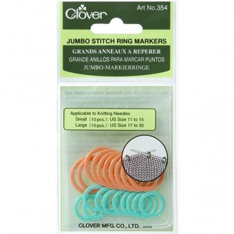 Clover Stitch Markers Ring and Locking Styles