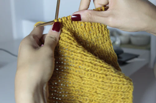 a knitting task