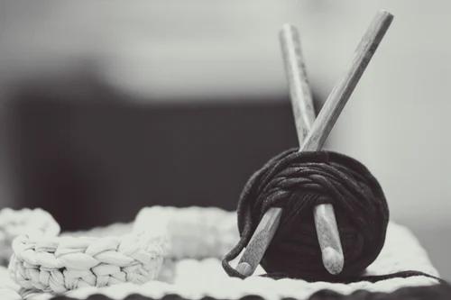 a crochet hook with yarn